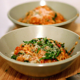 Tomato and Sausage Risotto.