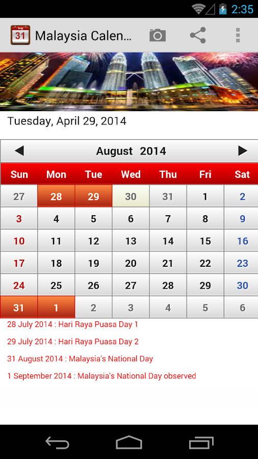 Calendar Mysteries April Adventure Quiz : Malaysia calendar android apps on google play