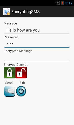 Encrypting SMS