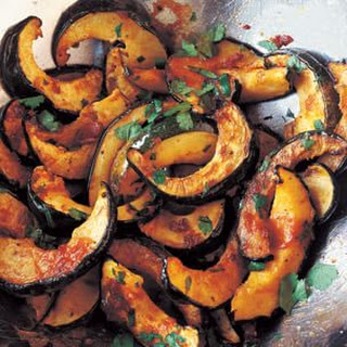 Roasted Acorn Squash with Chipotle and Cilantro