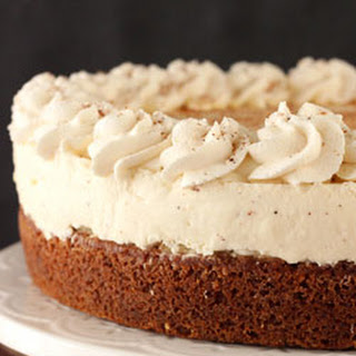 Eggnog Spice Blondie Cheesecake