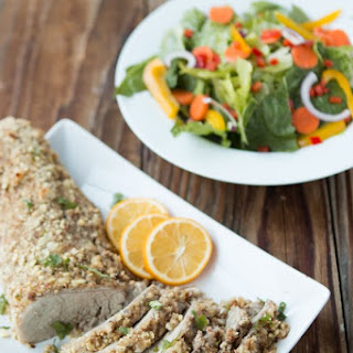 Almond Crusted Pork Tenderloin