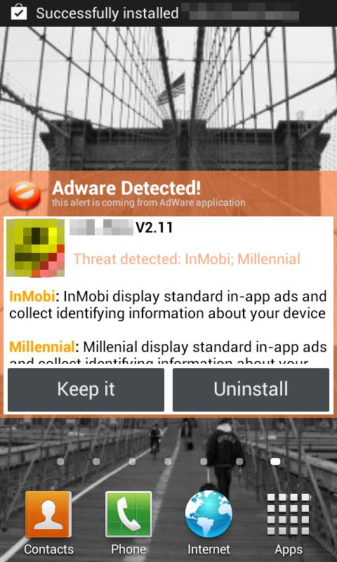 AdWare- screenshot