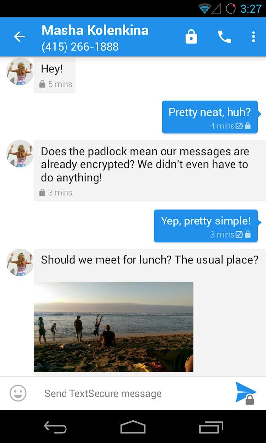 TextSecure Private Messenger - screenshot