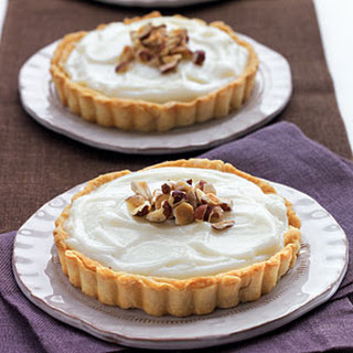 White Chocolate-Hazelnut Tarts.