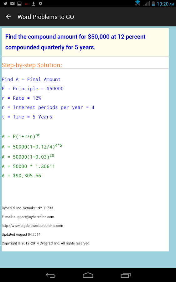 Word Problems to GO- screenshot