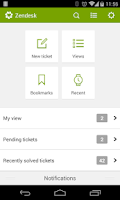 Screenshot of Zendesk