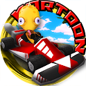 Kartoon fou Racing icon