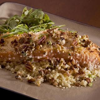 Pecan Crusted Honey Mustard Salmon.