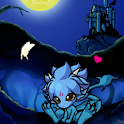 Baby dragon Night forest icon