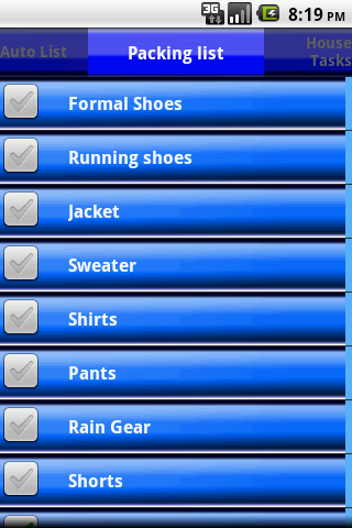 Checklist- screenshot