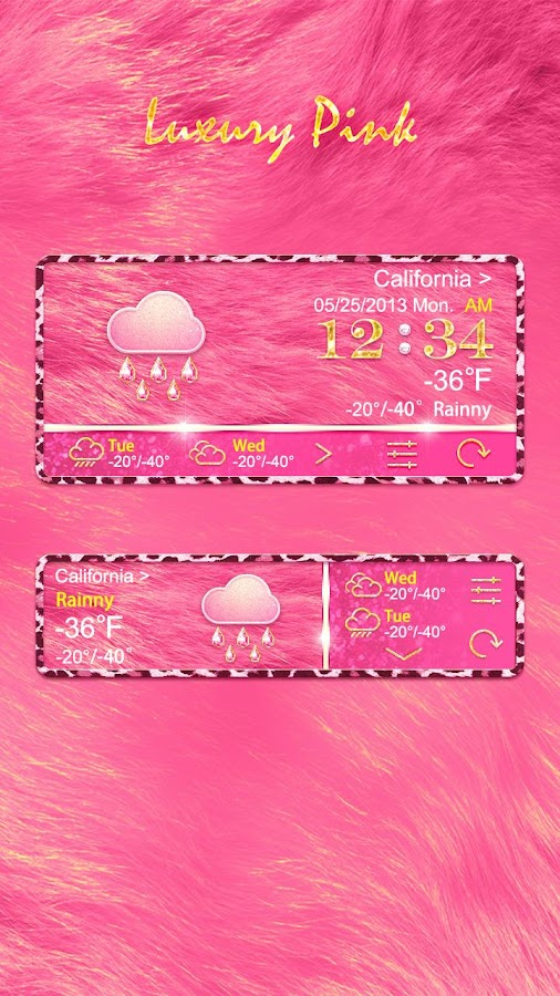 LUXURYPINK THEME GO WEATHER EX- screenshot