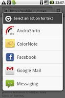 Screenshot of AndroShrtn URL Shortener