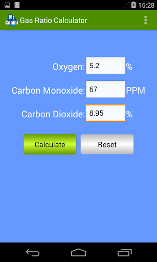 Gas Ratio Calculator