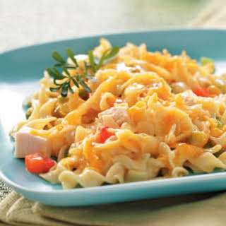 Comforting Chicken Noodle Casserole.