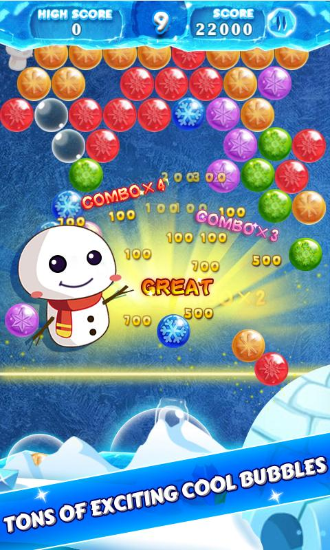 bubble shooter how to get 3 stars