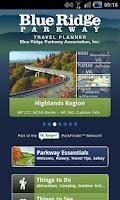 Screenshot of Blue Ridge Parkway