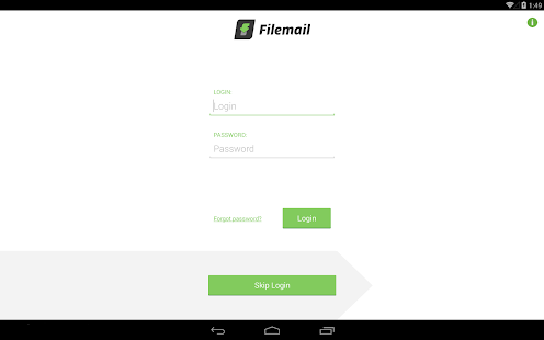 Filemail: Send large files- screenshot thumbnail
