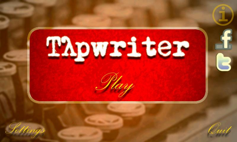 Tapwriter- screenshot