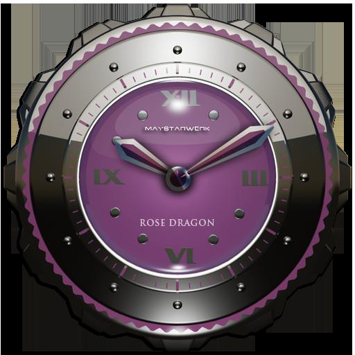 Dragon Clock Widget rose