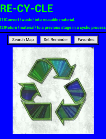 RECYCLING BIN - screenshot
