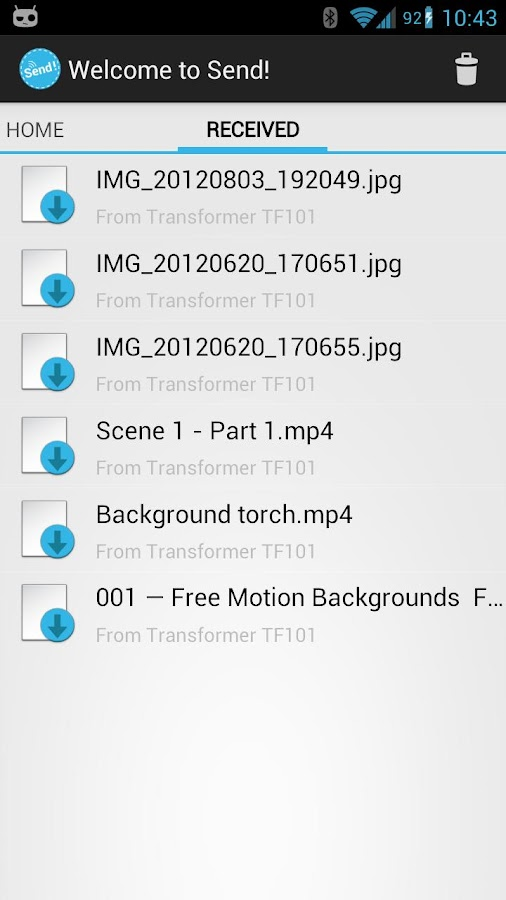 Send! | File Transfer - screenshot