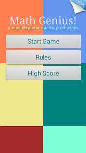Math Games - Maths Genius! - screenshot thumbnail