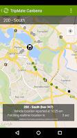 Screenshot of TripMate Canberra Transit App