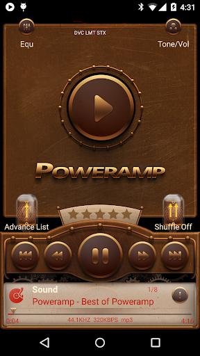 Poweramp skin Steampunk
