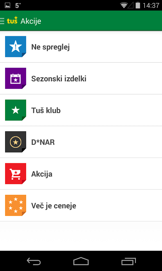 Tuš- screenshot
