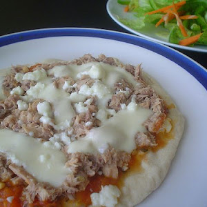 Three Cheese and Tuna Pizza