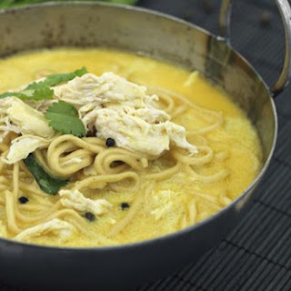 Curried Chicken Coconut Noodle Soup