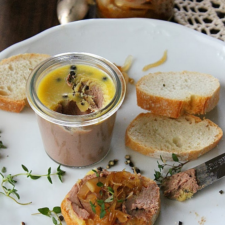 Chicken Liver Pate with Onion Marmalade