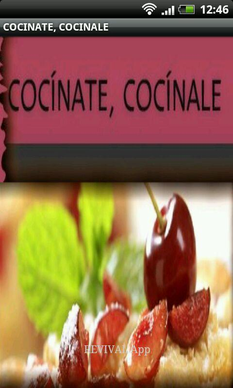 Cocinate, cocinale- screenshot