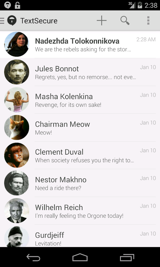 TextSecure Private Messenger - screenshot