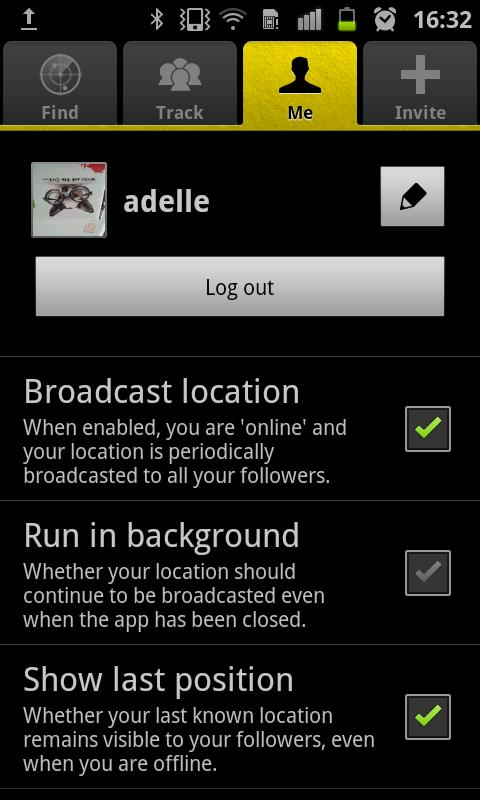 App2Find - GPS Friend tracker- screenshot