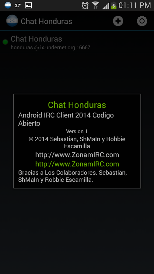 Chat Honduras- screenshot