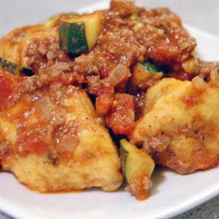 Butternut Squash Gnocchi w/ Moroccan Lamb Sauce