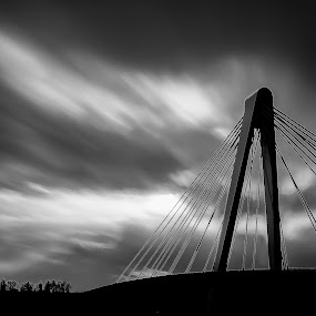 Capture the ligth  by Steve De Waele - Buildings & Architecture Bridges & Suspended Structures ( black and white, fine art, long exposure, bridge, architecture )