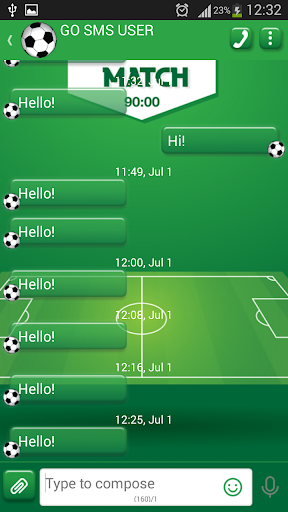 GO SMS Proのサッカー