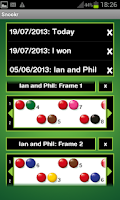 Screenshot of Snookr Score Pro (Snooker)