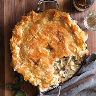 Chicken Pot Pie with Mushrooms and Thyme.