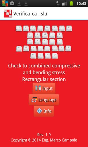 Compress bending stress ULS