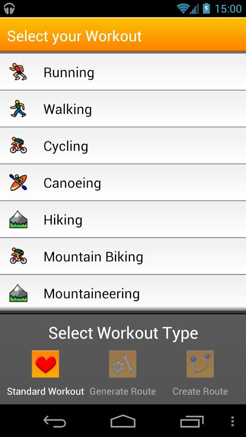 VirtuaGym Cardio GPS - screenshot