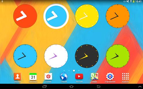 Wow KitKat Clock Widgets - screenshot thumbnail