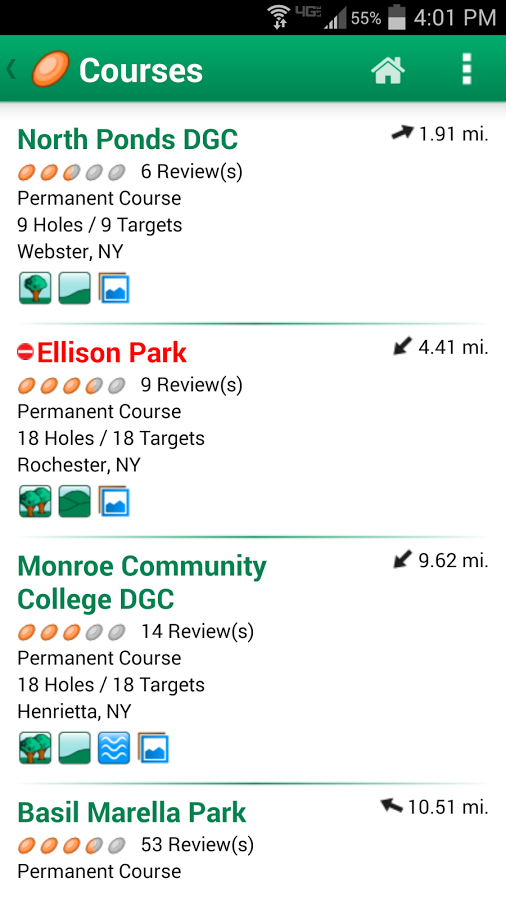 Disc Golf Course Review- screenshot