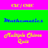 CSEC Math Multiple Choice Quiz