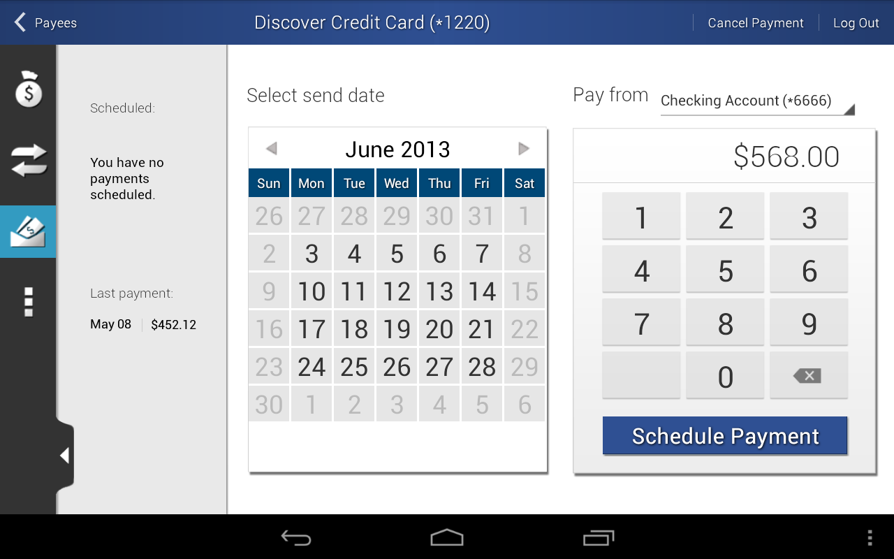 Dort Federal Mobile Banking - screenshot