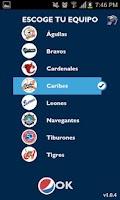 Screenshot of Pepsi Beisbol