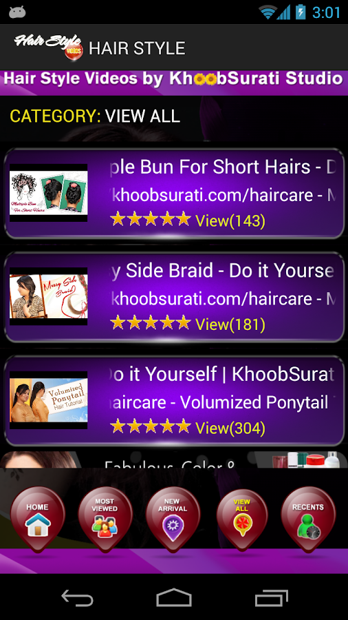 Hairstyles Video Tutorials - screenshot